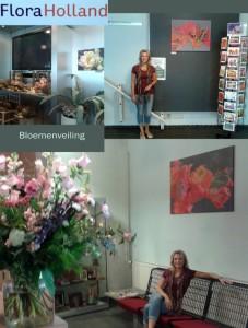 Bloemenveiling wanddecoratie