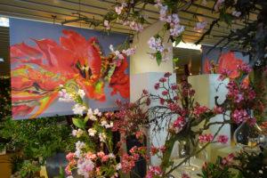 Glass & Flower Fashion met Rococo bij de spiegel