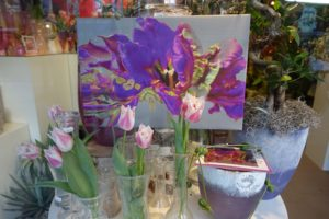 Glass & Flower Fashion met Purple rococ