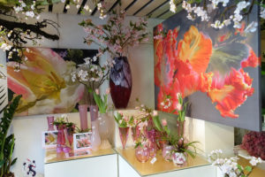 Glass & Flower Fashion met Tulip art en Pretty parrot sweet
